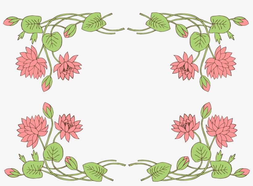 Jpg Download - Lotus Flower Page Border Designs Transparent
