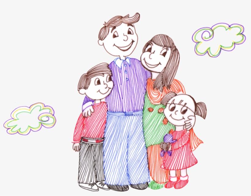 батько наша счастливая семья рисунки вместимости, простоте