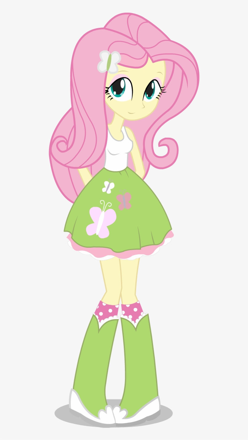 Fluttershy Equestria Girl By Negasun D6d4zr3 My Little Pony Equestria Girl Fluttershy Transparent Png 833x1458 Free Download On Nicepng