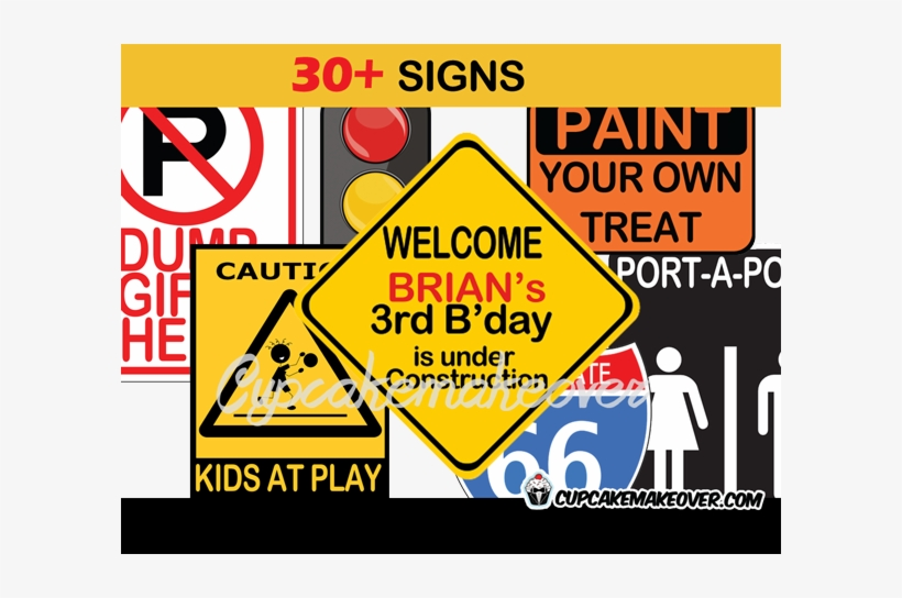 picture about Free Printable Construction Signs identified as Printable Framework Celebration Indications - Childrens Celebration