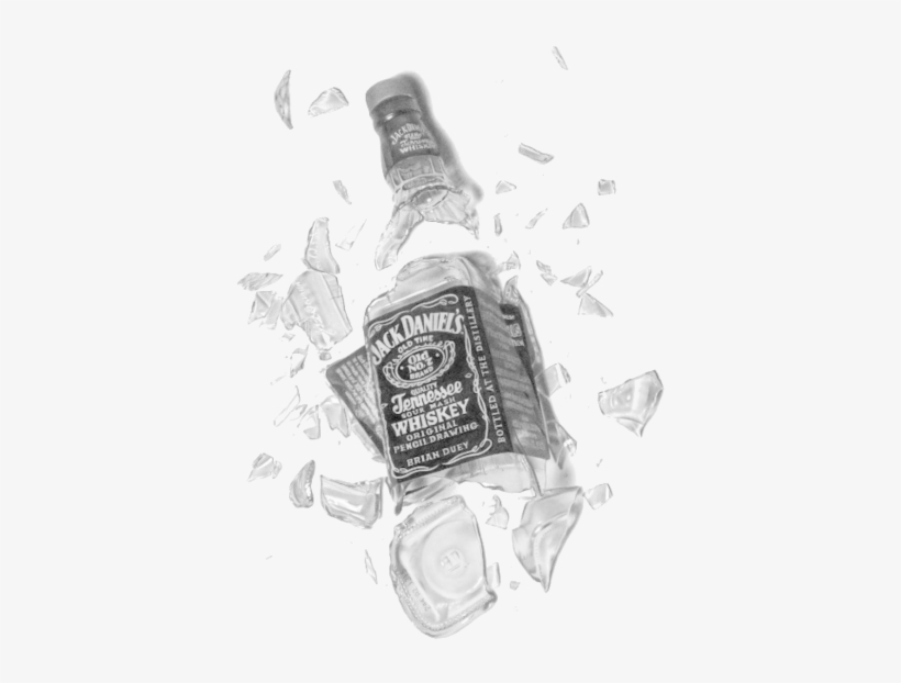Broken Jack Daniels Bottle Transparent 439x600