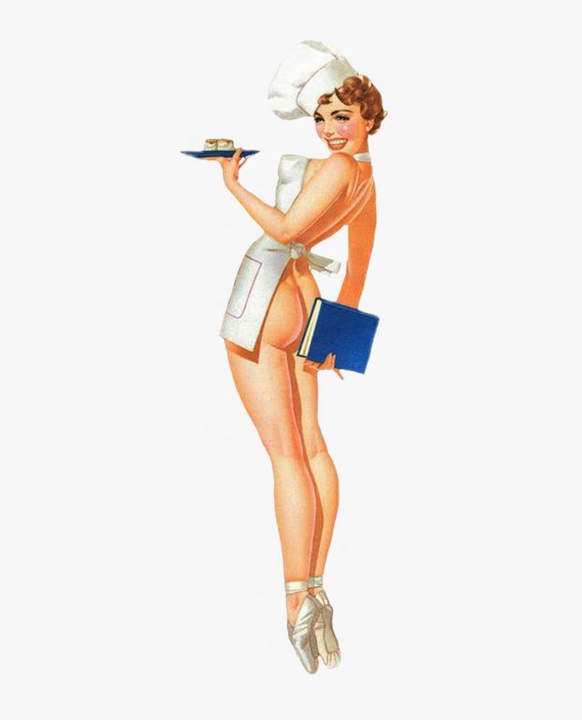 Funny Sexy Vintage Pin Up Cook 60s Pin Up Art Transparent Png