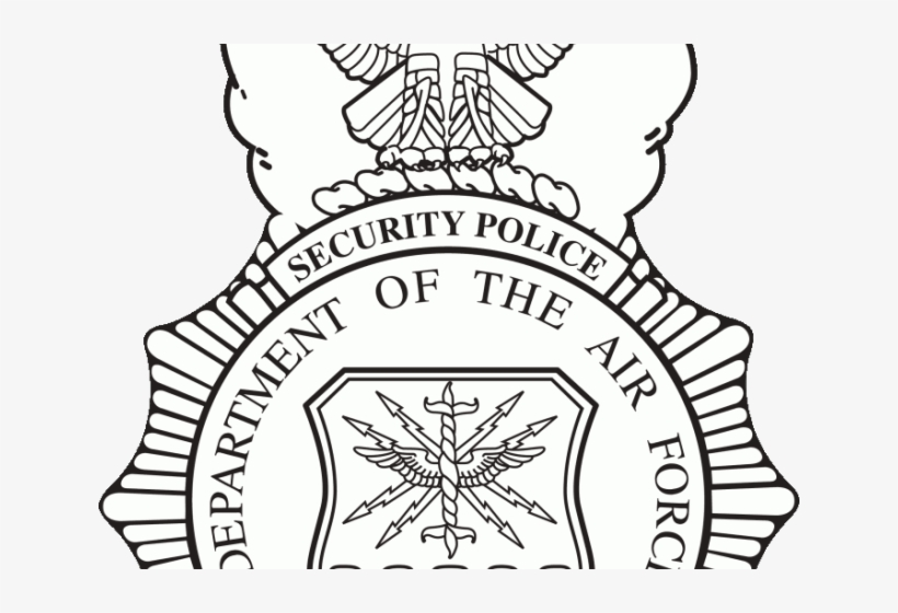 Security Shield Clipart Police Badge - Air Force Security