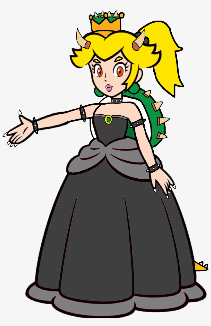 Bowsette 2d Super Mario Princess Peach 2d Transparent Png 1735x2569 Free Download On Nicepng