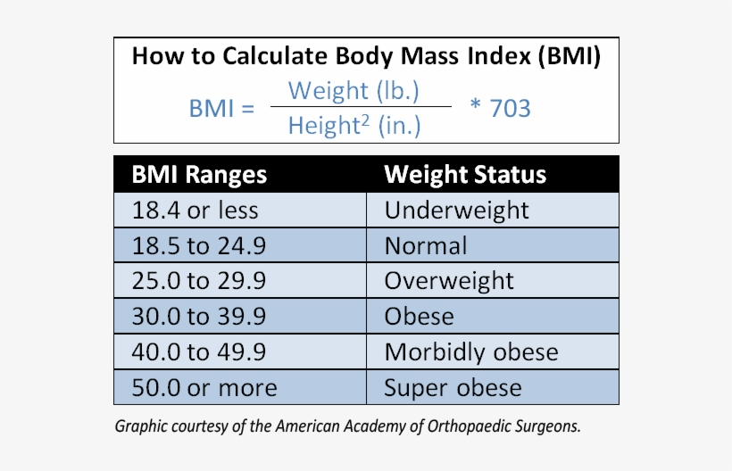 Obesity Linked To Increased Risk For Orthopaedic Conditions Bmi Obese Range Transparent Png 636x487 Free Download On Nicepng