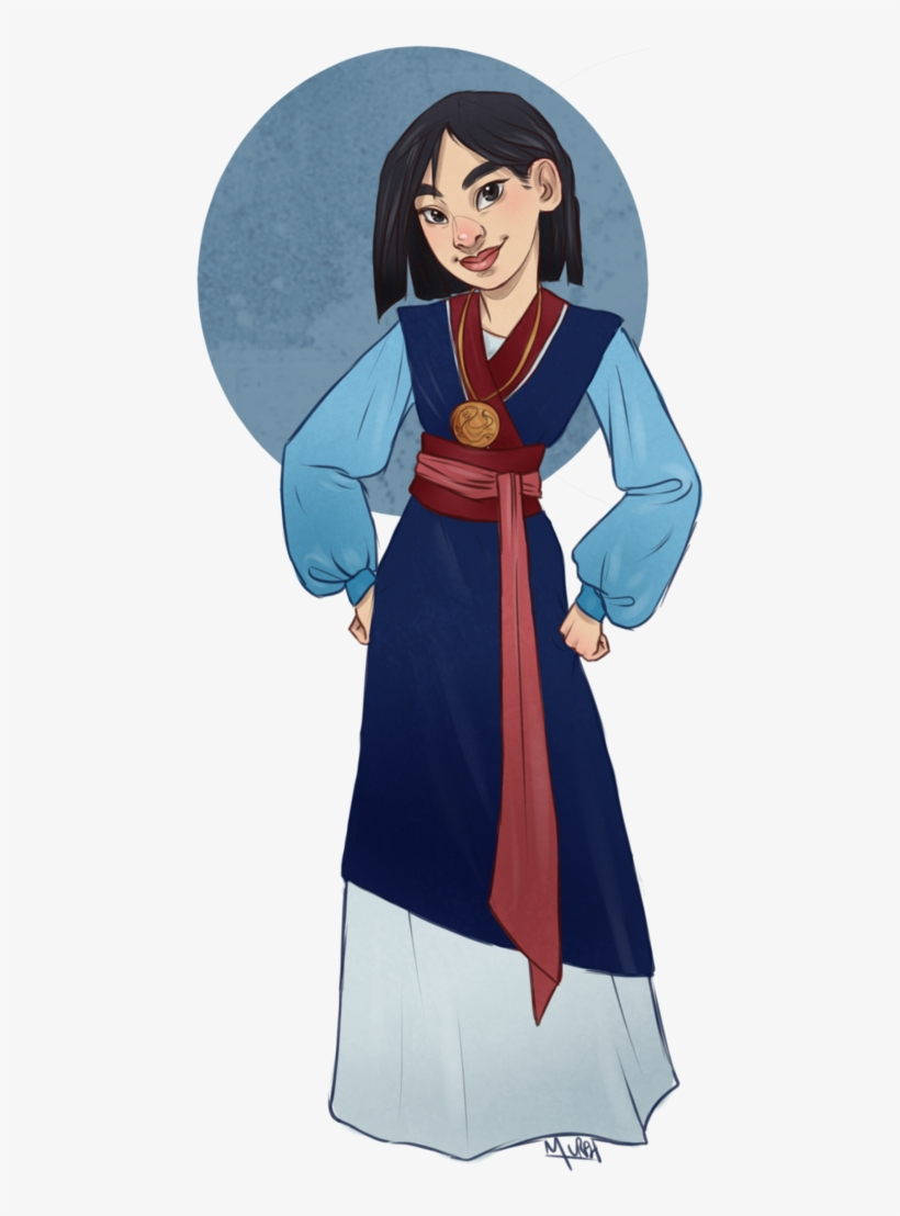 Mulan In The Outfit She Worse At The End Of The Film Mulan Full Body Transparent Png 726x1100 Free Download On Nicepng