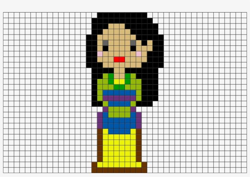 Pixel Art Princesse Disney Mulan Transparent Png 880x581