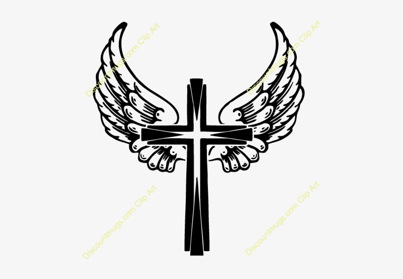Tribal Angel Wings Png For Kids Wings On A Cross Transparent Png