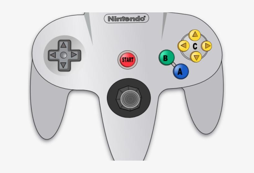 Controller Clipart Nintendo Controller - Nintendo 64