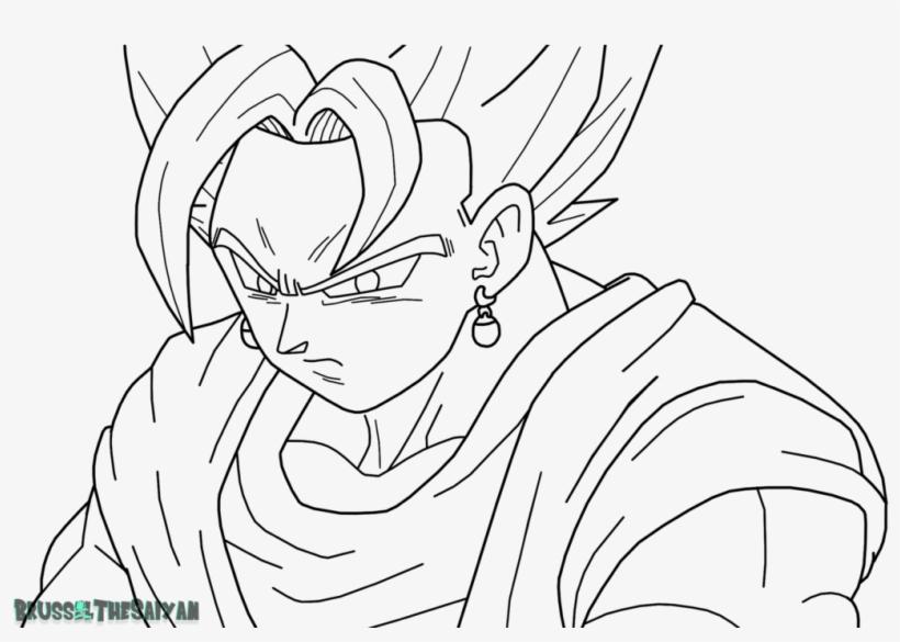 Dragon Ball Z Para Colorir Gohan Super Ssj 2: Goku Super Saiyan Para Colorear Super Saiyan Blue Vegito