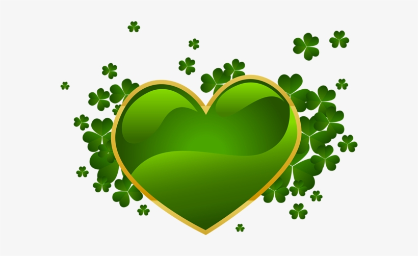 picture regarding Free Printable Clipart for St Patrick's Day known as St Patricks Working day Centre With Shamrock Png Clipart - St