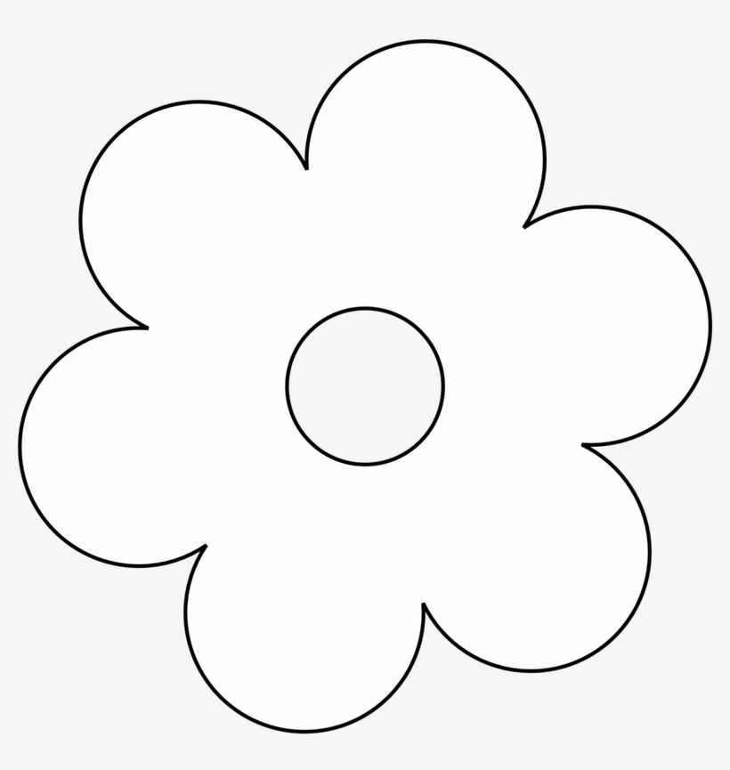 Flower Black And White Clip Art Flowers Clipart Pot - White Flower Clipart Png