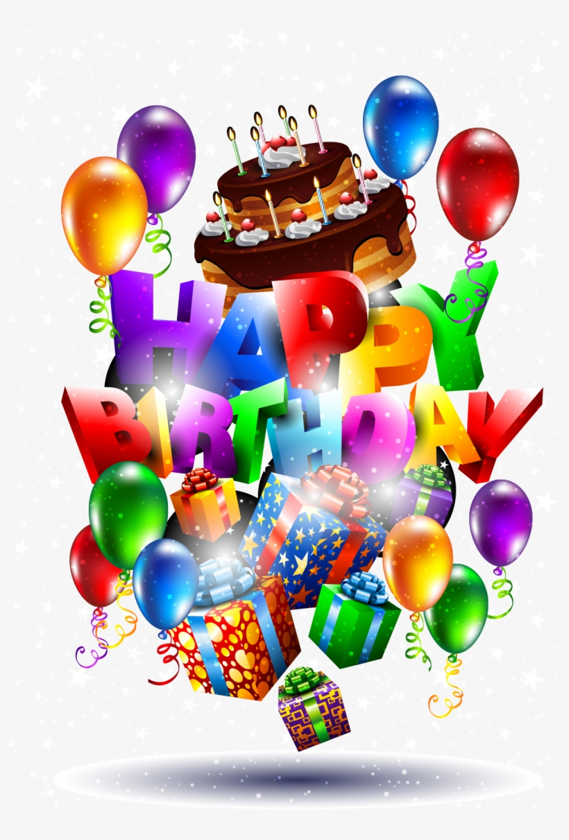 Happy Birthday Png Text 3d - Happy Birthday Background Png