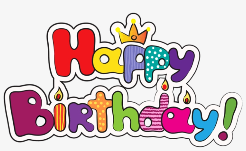 Colorful Birthday Clipart Image Happy Birthday Logo Png Transparent Png 600x343 Free Download On Nicepng