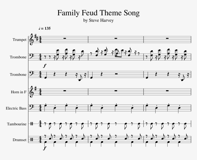 Family Feud Theme Song - Mom Isnt Home Tuba Transparent PNG