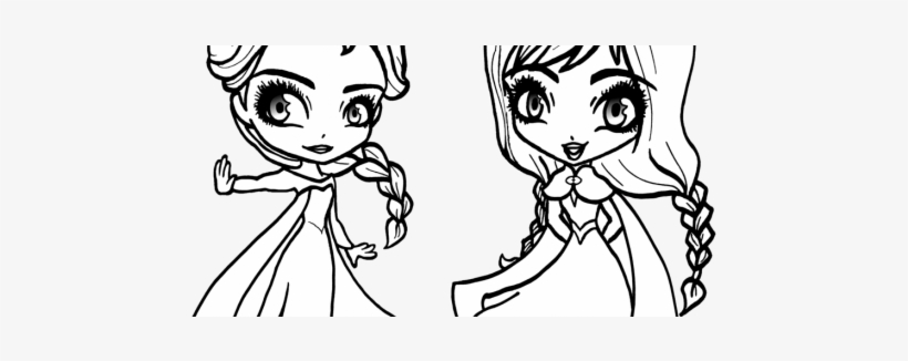 Magnificent Anna Elsa Coloring Pages Image Collection - Baby