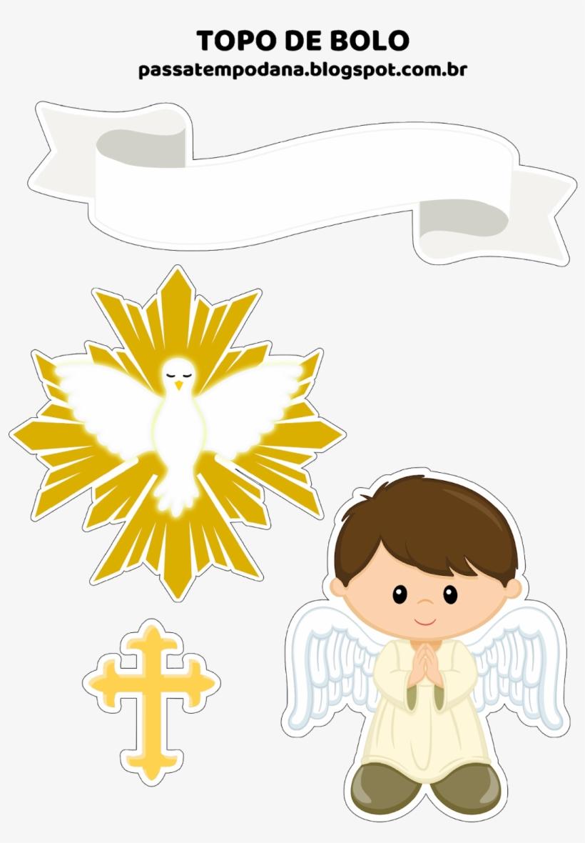 Batizado 1 Topo De Batizado Menino Imprimir Transparent Png