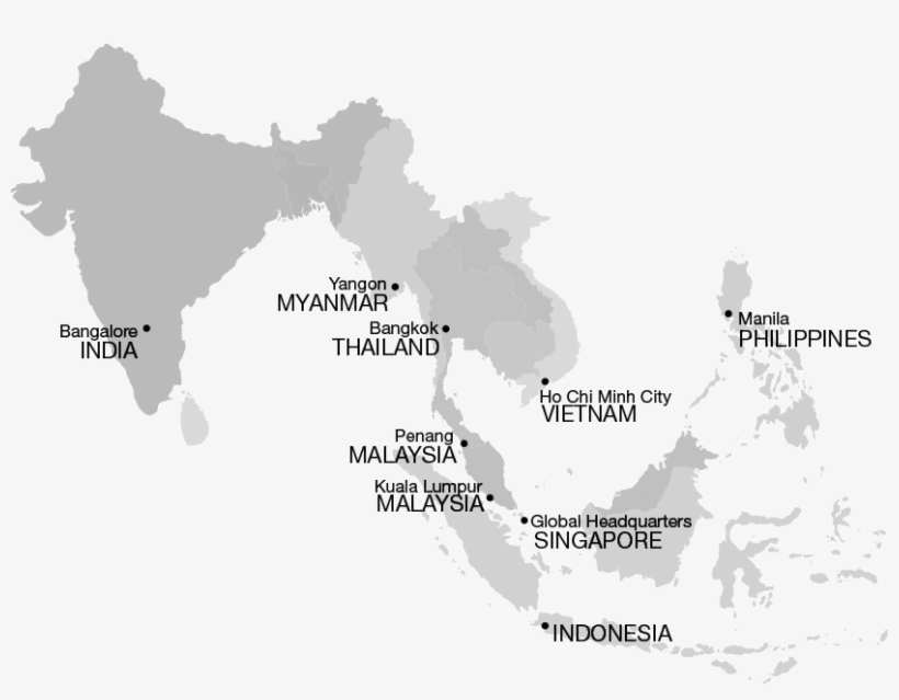 Asia Map Philippines To Thailand