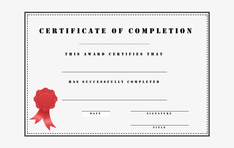 Certificate Of Training Completion Template from www.nicepng.com
