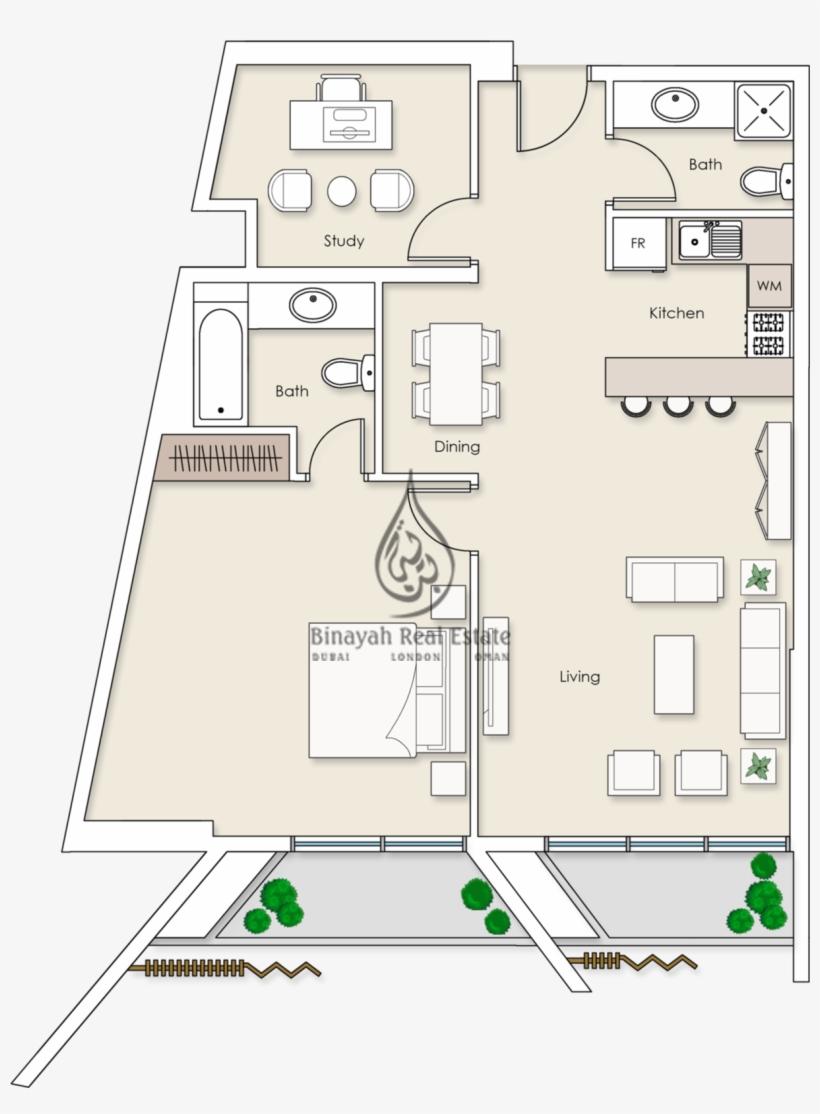 Platinum Residences 1 Bedroom Apartment Type 2 Floor One Bedroom Deluxe Suite Plan Burj Al Arab Transparent Png 1213x1590 Free Download On Nicepng