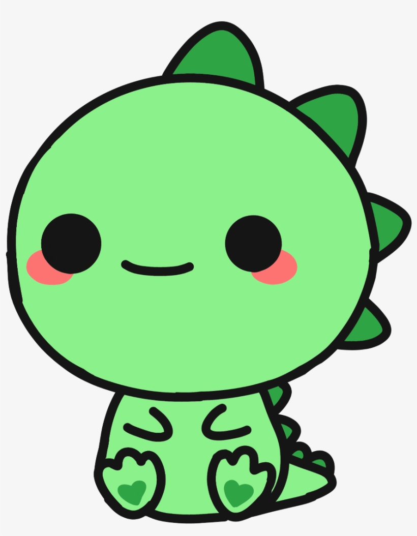 Cute Sticker - Easy Cute Dinosaur Drawing Transparent PNG ...