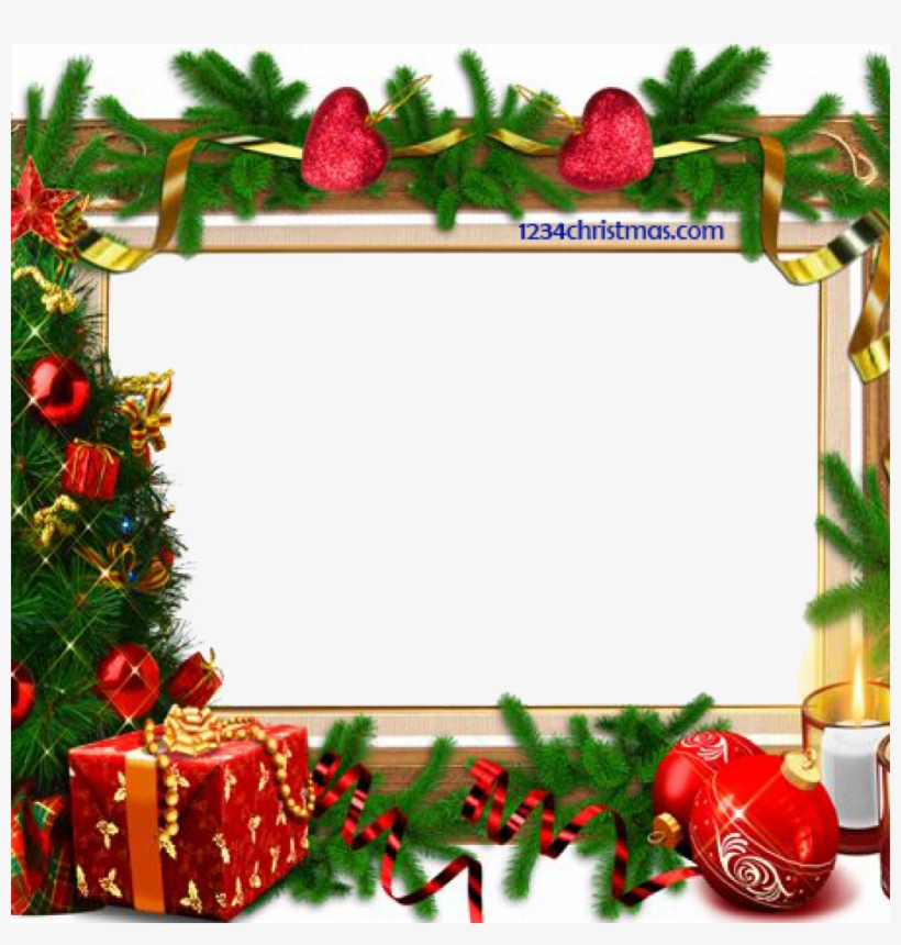 Free Christmas Frames And Borders Christmas Photo Frame Merry Christmas Border Design Transparent Png 1024x1024 Free Download On Nicepng