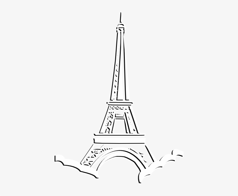 Eiffel Tower Drawing Step By Step At Getdrawings Clipart Eiffel Tower Png Transparent Png 444x596 Free Download On Nicepng