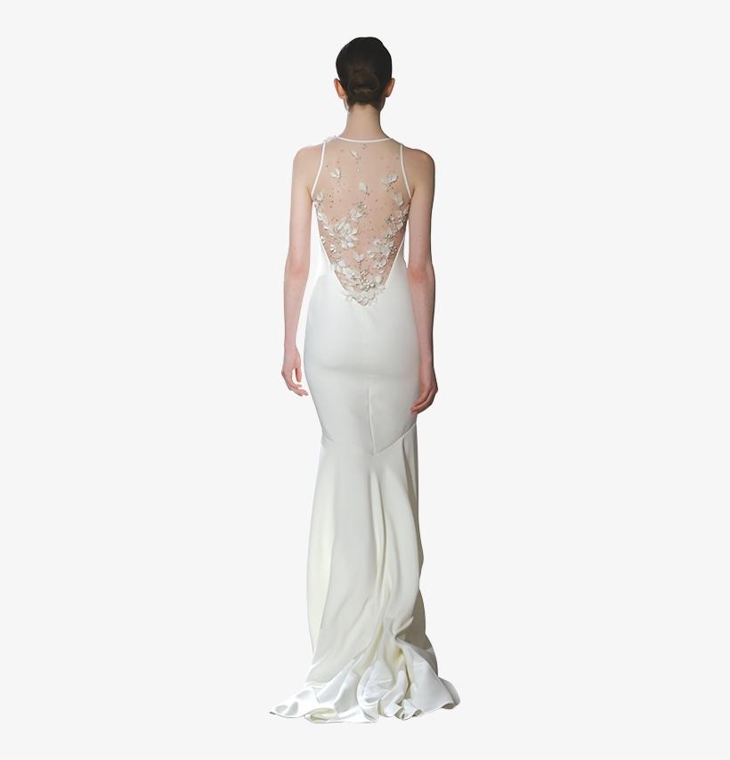 "f40929e3b302 Theia ""courtney"" Ombre Strapless With Satin Petals, - Wedding Dress ..."