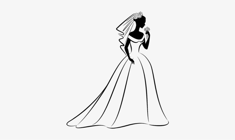 vestidos de novia animados para colorear transparent png - 600x470