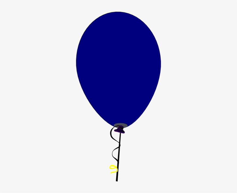 Balloon vector. Navy clipart dark blue