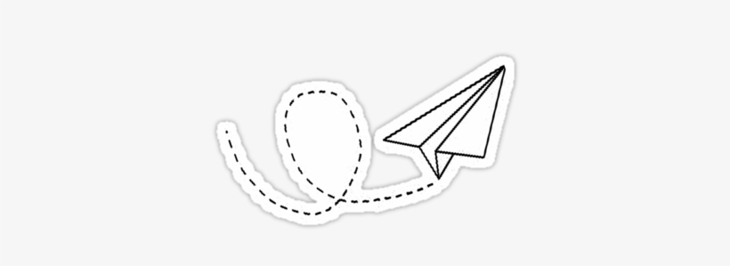Paper Plane By 2b2dornot2b Transparent Sticker Paper Airplane