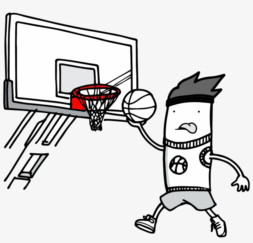 Png Freeuse Library Basketball Hoop Black And White