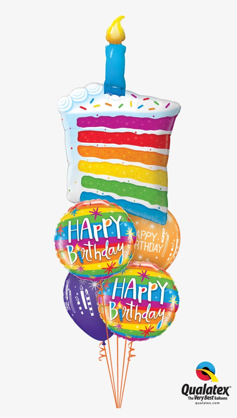 Brilliant Rainbow Birthday Cake At London Helium Balloons Rainbow Cake Funny Birthday Cards Online Inifofree Goldxyz