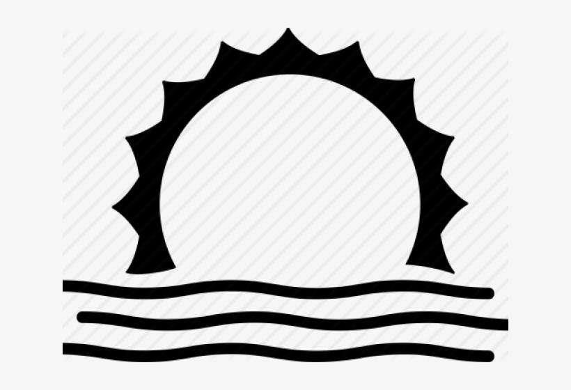 Sunrise Clipart Png Sun Set Clip Art Black And White Transparent