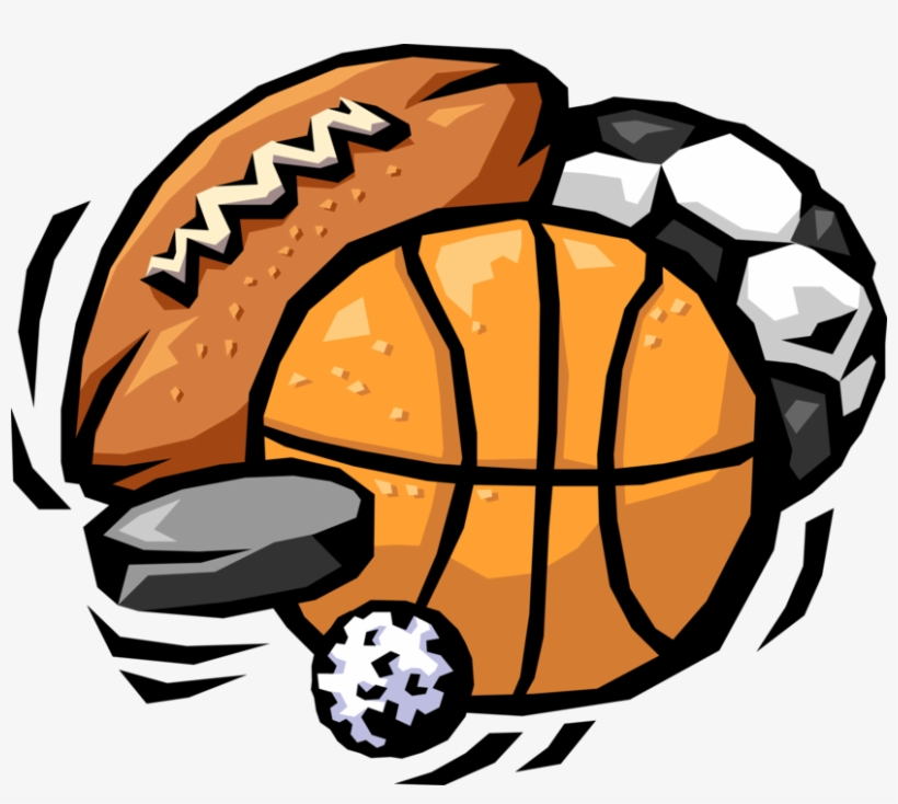 Vector Illustration Of Sports Balls With Football All Sports Logo Transparent Png 827x700 Free Download On Nicepng