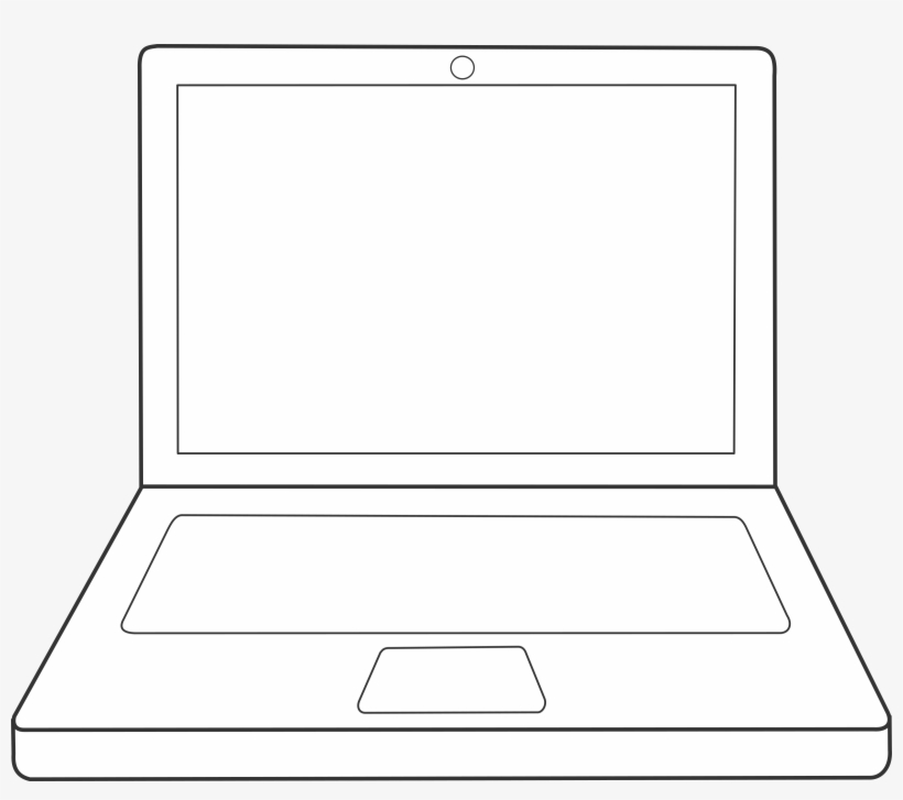 Laptop Vector Graphic - Simple Drawing Of A Laptop