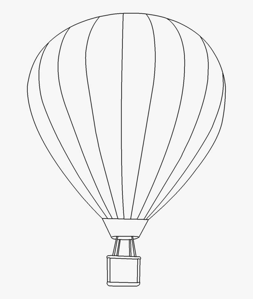 Png Hot Air Balloon Black And Hot Air Balloon Colouring