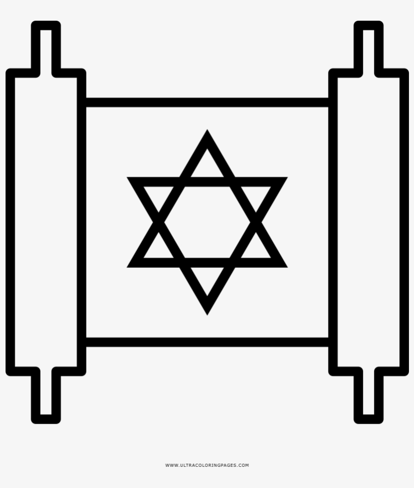 Torah Scroll Coloring Page Star Of