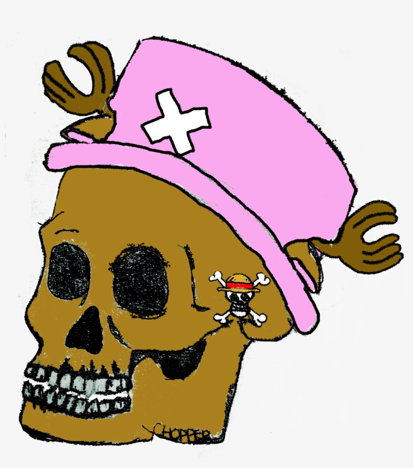 One Piece Chopper Skull Head Anime Pink Drawing Skull Transparent Png 2256x2448 Free Download On Nicepng