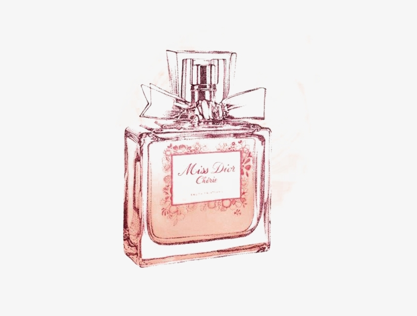 28 Collection Of Miss Dior Perfume Drawing - Perfume Drawings