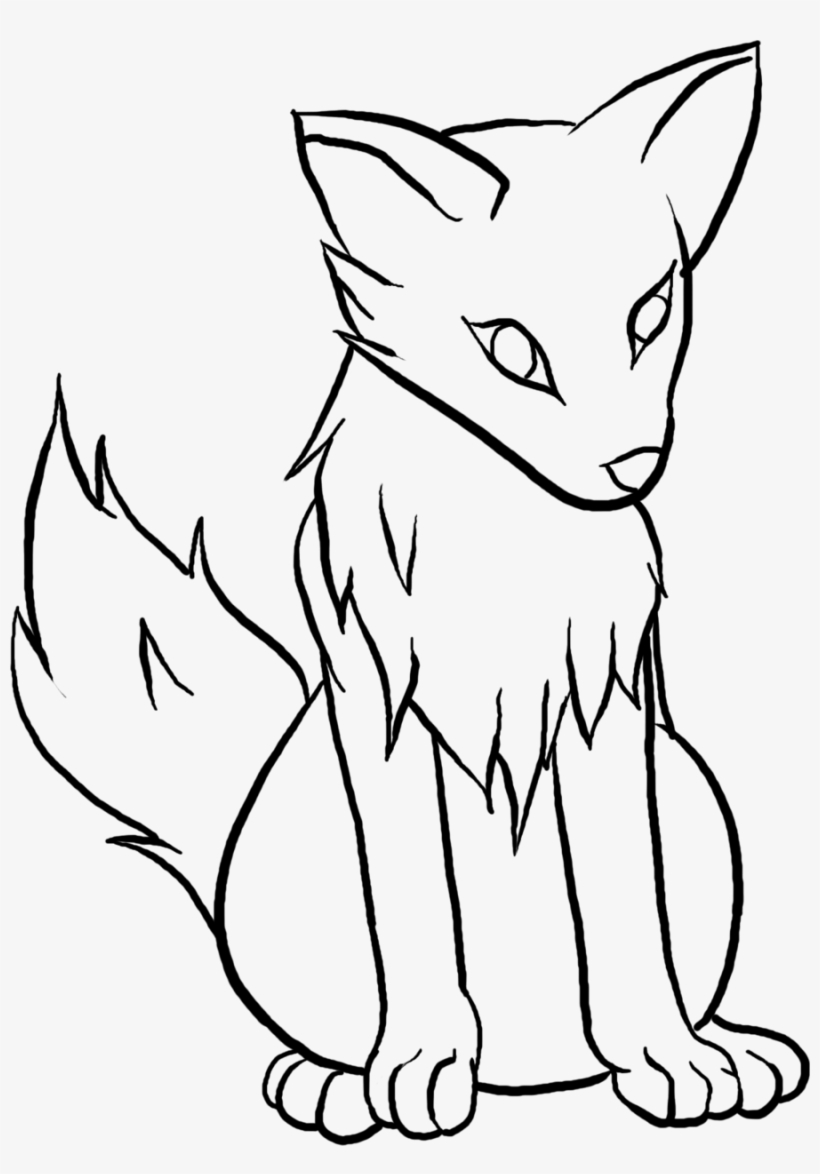 Wolf simple. Clipart easy pup drawing