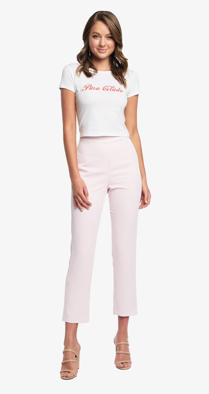 Roblox Blush Pants Zalia Slim Pant In Colour Blushing Bride Girl Transparent Png