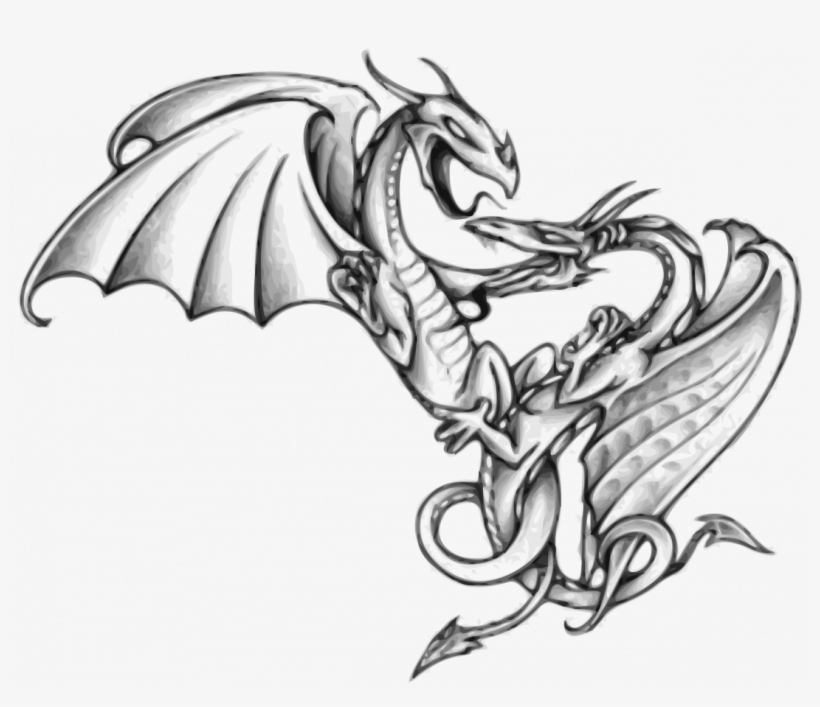 Large Size Of How To Draw A Cute Cartoon Baby Dragon Two Dragons