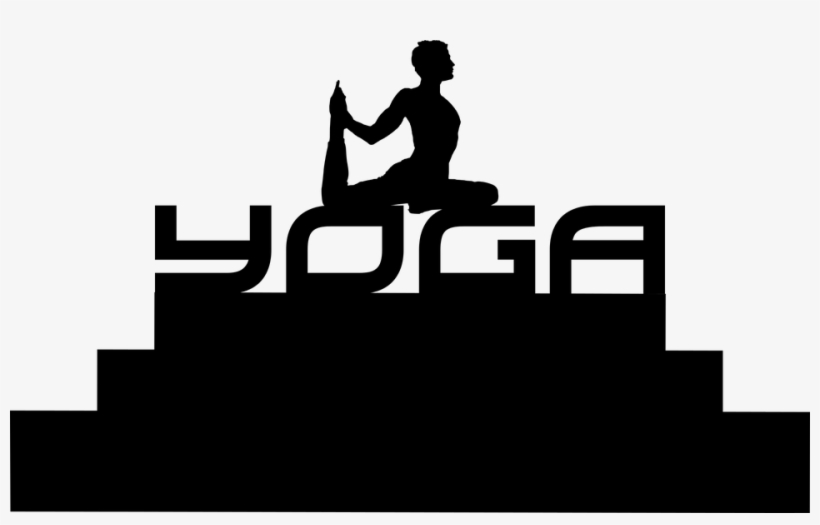 Silhouette Yoga Man Design Isolated Young Gym Yoga Transparent Png 960x568 Free Download On Nicepng