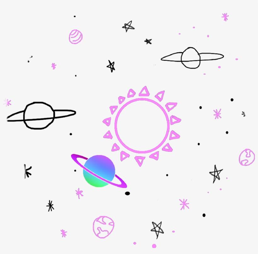 Sticker Space Tumblr Colors Cute Pink Purple Stars Imagen En Png