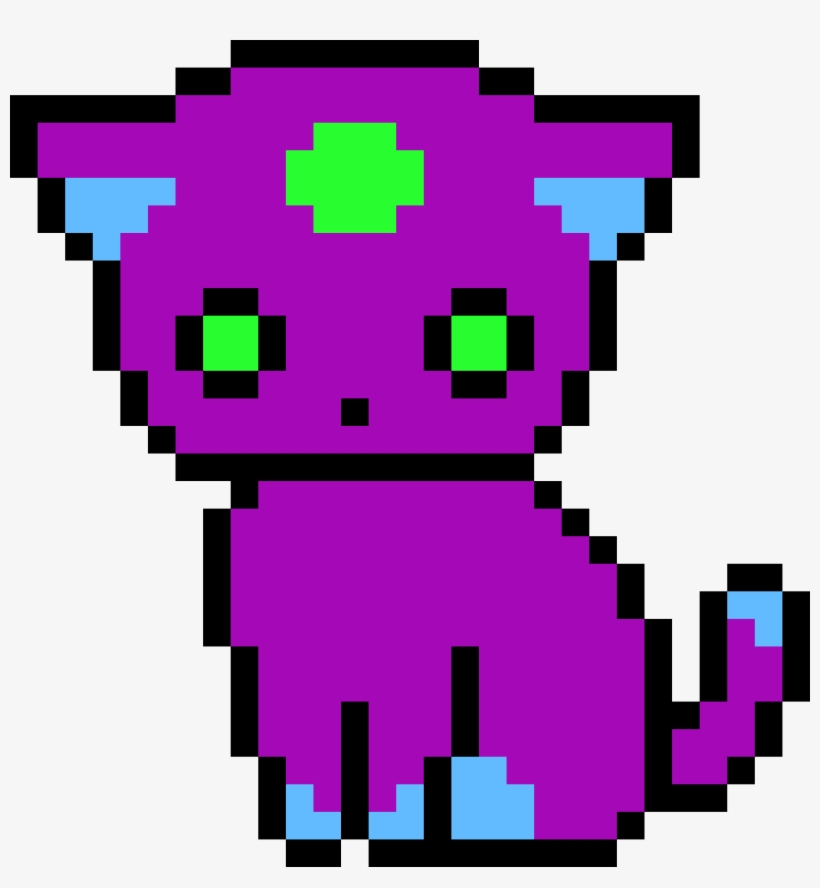 Purple Pixel Cat Unicorn Kitty Pixel Art Transparent Png