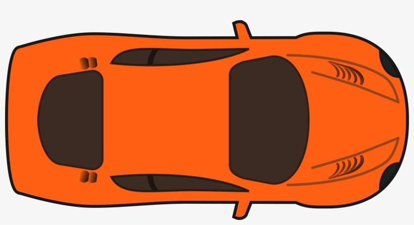 Orange Racing Car Car Clipart Top View Png Transparent Png