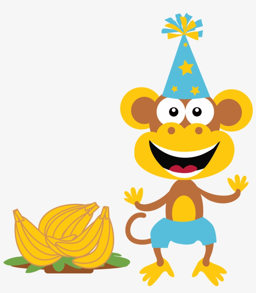 Birthday summer. Clipart monkey sun clip