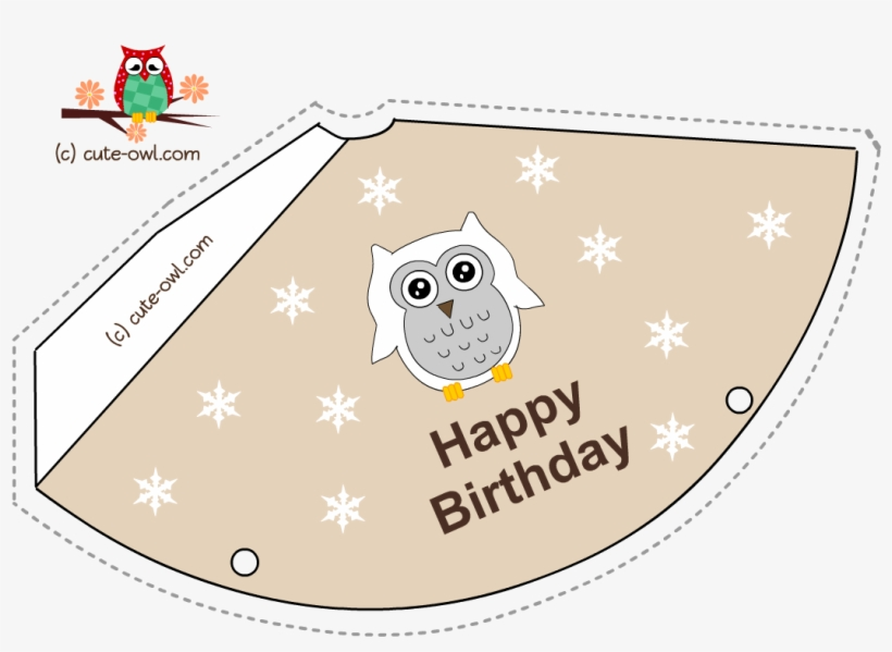 graphic about Printable Birthday Hat called Cost-free Printable Snowy Owl Birthday Celebration Hats - Get together Hat