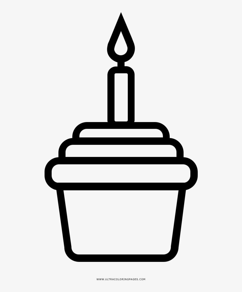Birthday Cupcake Coloring Page Take Away Coffee Symbol Transparent Png 1000x1000 Free Download On Nicepng